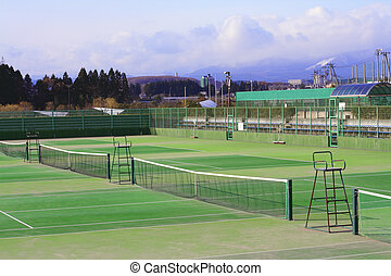Tennis courts - General view of few tennis courts in a...