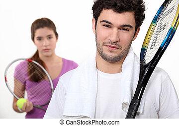 tennis, duo