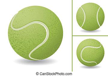 tennis, ensemble, balle