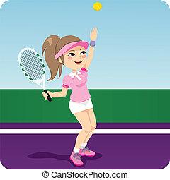 tennis, femme