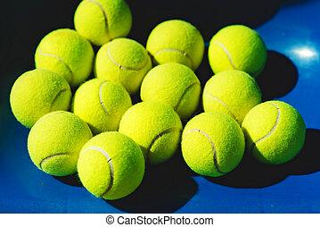 tennis, fond, balles