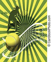 tennis, fondo, sport