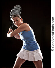 tennis, frau