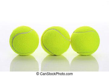 tennis, freigestellt, kugel
