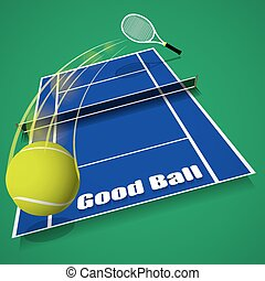 Tennis game concept vector