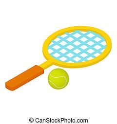 Tennis game isometric 3d icon