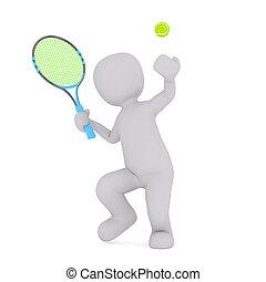 Tennis gamer serving