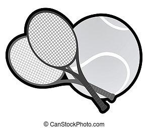 tennis, grau