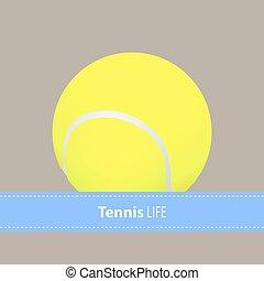 tennis, gul, klumpa ihop sig