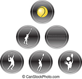 tennis, icônes