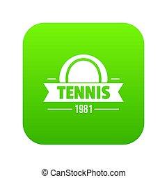 Tennis icon green