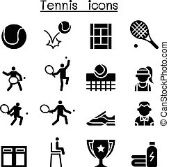 Tennis icon set illustration graphic design