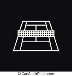 Tennis icon vector sign symbol for design