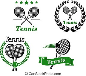 Tennis icons and emblems