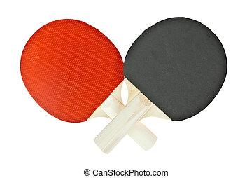 tennis, isolato, fondo, racchetta, tavola, bianco
