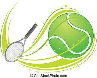 tennis jouant