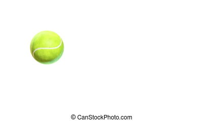 Tennis - jumping on white background
