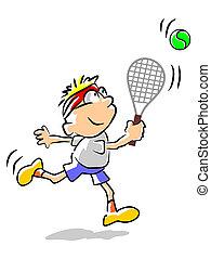 Tennis kid - illustration