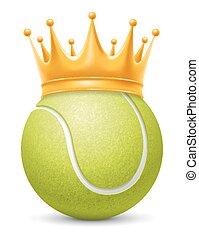 tennis, kroon, bal