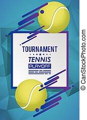 tennis kula, affisch, sport
