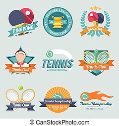 Tennis Label Set