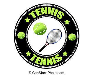 Tennis label, vector illustration