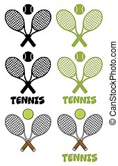 Tennis Labels Collection Set 2