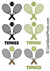Tennis Labels Collection Set 2