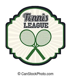 tennis, ligue, conception