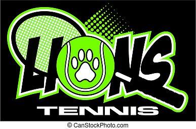 tennis, lions