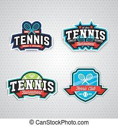 Tennis logo, badge, design template - Tennis badge logo...