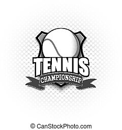 Tennis logo template design