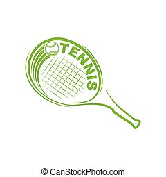 Tennis outline silhouette symbol background