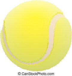 tennis, pelouse, balle, ball.