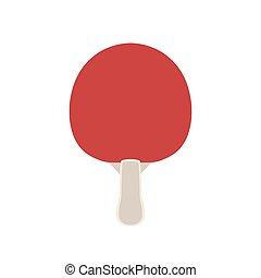 tennis, ping, isolato, illustrazione, vettore, pagaia, racchetta, pong, sport, icon.