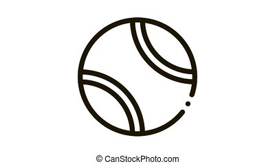 Tennis Play Ball Icon Animation. black Tennis Play Ball animated icon on white background