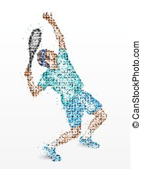 Tennis, player, abstraction - Abstract athlete of the...