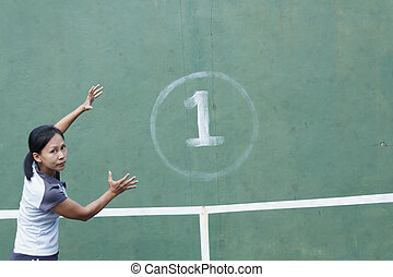 Tennis Player and Tennis wall