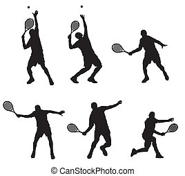 Tennis player - Abstract vector illustration of tennis...