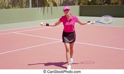 Tennis player having a dispute with the referee - Angry...
