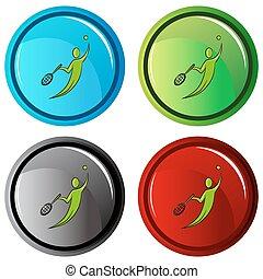Tennis Player Icon Button