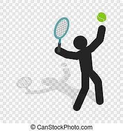 Tennis player isometric icon