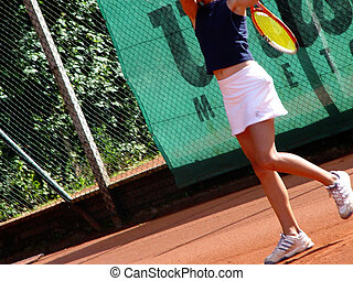 tennis player - girl on the court