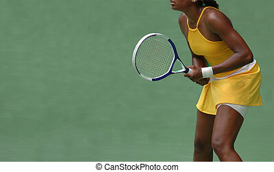Tennis Player - A female tennis player during a competition
