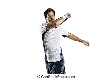 Tennis Player. - Tennis player on a white background.
