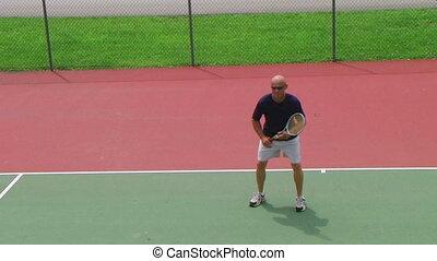 Tennis Player Volleys 02