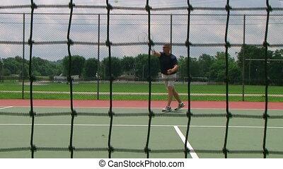 Tennis Player Volleys 03