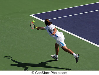 Tennis player - Young man playing tennis