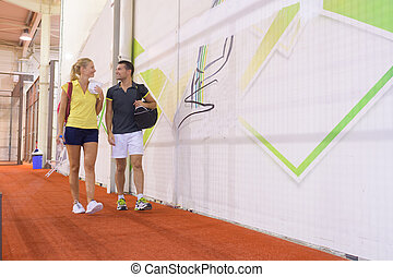 tennis players after training
