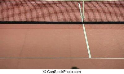 Tennis players... playing tennis...